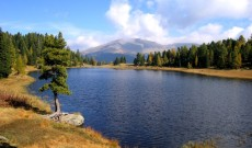 Lake Schwarzsee in the Nockberge mountain range near Turracher Hohe