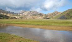 Landmannalaugar area as seen from hiking trail, Iceland